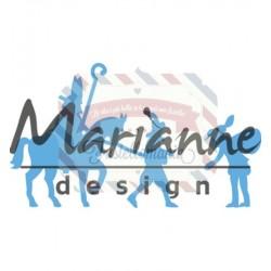 Fustella metallica Marianne Design Creatables Sint & Piet