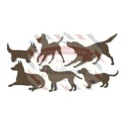 Fustella metallica Dog set