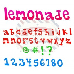 Fustella Sizzix BIGz XL Lemonade Alphabet lowercase