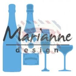 Fustella metallica Marianne Design Creatables Champagne