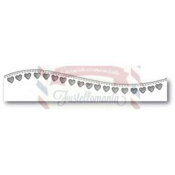 Fustella metallica PoppyStamps Stitched Heart Curve