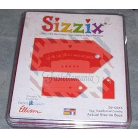 Fustella Sizzix Bigz Tag traditional combo