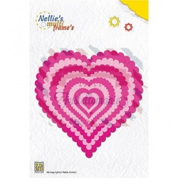 Fustella metallica Nellie's Choice Wavy heart