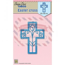Fustella metallica Nellie's Choice Easter Cross