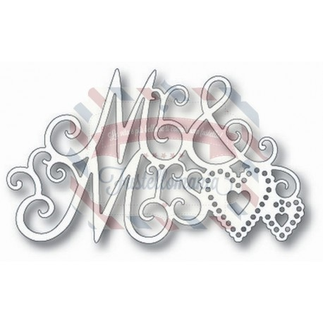 Fustella metallica Tutti Designs Mr & Mrs