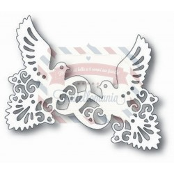Fustella metallica Tutti Designs Doves and Rings