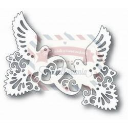 Fustella metallica Tutti Designs Doves and Rings