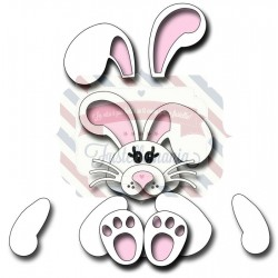 Fustella metallica Cuddly Bunny