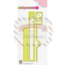 Fustella metallica Nellie's Choice Sliding card dies design-4