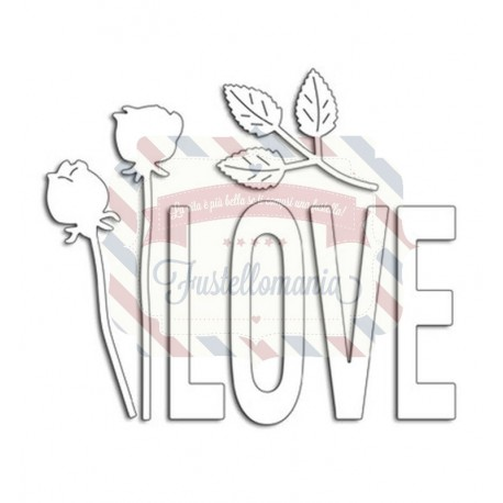 Fustella metallica Penny Black Love And Roses