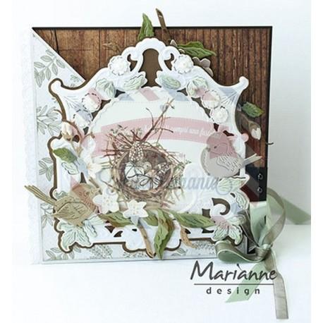 Fustella metallica Marianne Design Creatables Petra's apple blossom