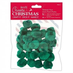 Pom Poms 30 pezzi Green