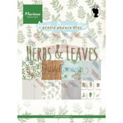 Carta da scrapbooking Marianne Design Bloc Herbs & leaves