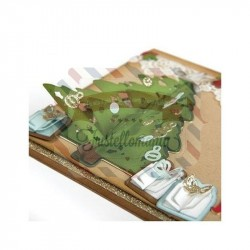 Fustella Sizzix Thinlits Christmas Tree Flip & Fold by Katelyn Lizardi