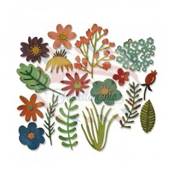 Fustella Sizzix Thinlits Funky Floral