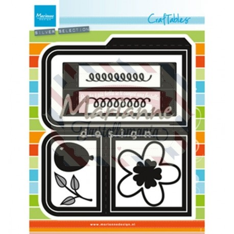 Fustella metallica Marianne Design Craftables Card Box