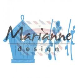 Fustella metallica Marianne Design Creatables Willow cats & birdhouse