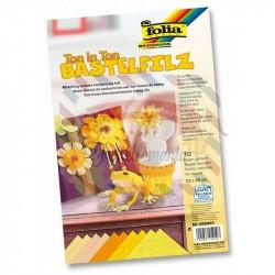 Pannolenci 150 gr 20x30 cm 10 fogli colore giallo