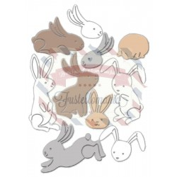 Fustella metallica Bunny Poses