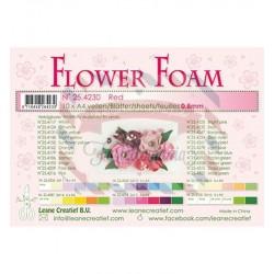 Fommy Leane Creatief per fiori 0,8 mm in fogli A4 10 pezzi colore Rosso