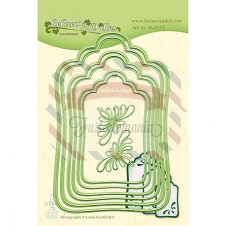 Fustella metallica Leane Creatief Labels large