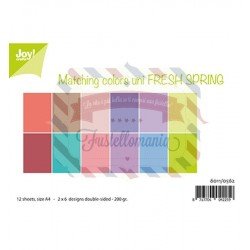 Carta da scrapbooking Joycrafts Paper Set A4 Matching Colors uni - Fresh Spring