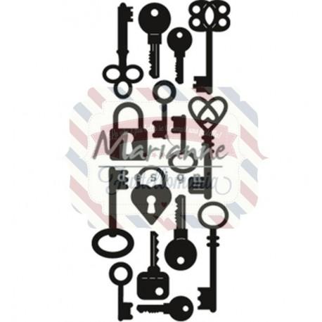 Fustella metallica Marianne Design Craftables Punch die Keys
