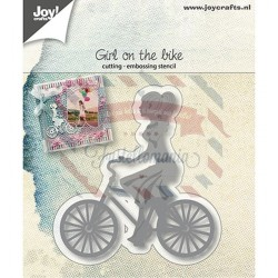 Fustella metallica Joy! Crafts Girl on bicycle