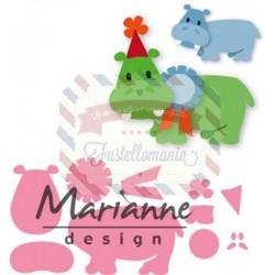 Fustella metallica Marianne Design Collectables Eline's happy hippo