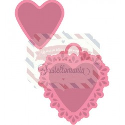 Fustella metallica Marianne Design Collectables Candy hearts NL text + Stamp