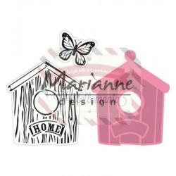 Fustella metallica Marianne Design Collectables Birdhouse home