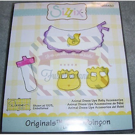 Fustella Sizzix Bigz Animal dress Ups accessori bimbo