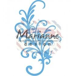 Fustella metallica Marianne Design Creatables Anja's floral ornament