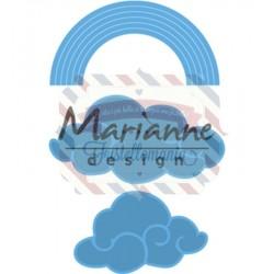 Fustella metallica Marianne Design Creatables Rainbow & clouds
