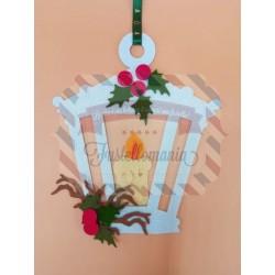 Fustella A4 Lampione agrifoglio candela e ramo