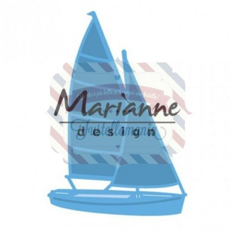Fustella metallica Marianne Design Creatables Sailboat