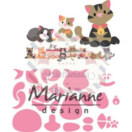 Fustella metallica Marianne Design Collectables Eline's kitten