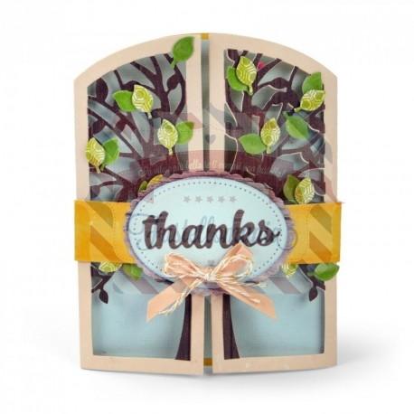 Fustella Sizzix Thinlits Gatefold Card Tree