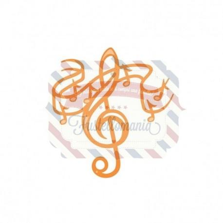 Fustella metallica Tonic Studios Rococo Petite Treble Cleff