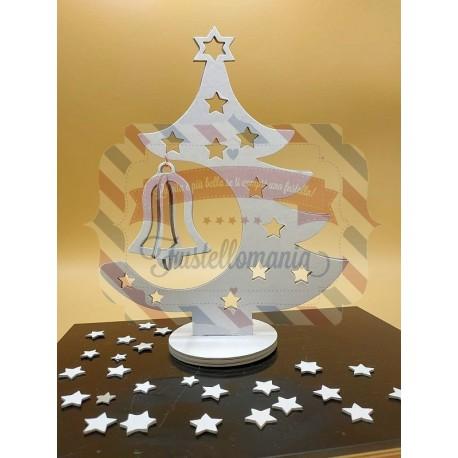 Fustella A4 Albero stella e campana tridimensionale