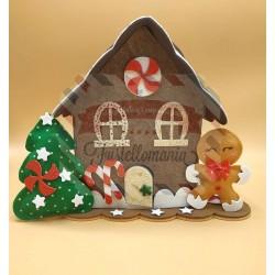 Fustella A4 doppia + L Casetta gingerbread e cornice maxi KIT 3 FUSTELLE