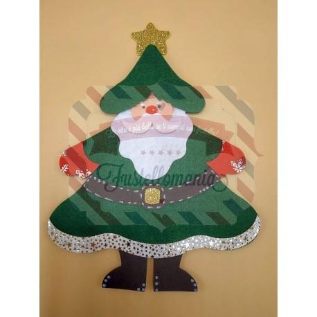 Fustella A4 Albero vestito da Babbo Natale