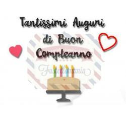 Fustella Sizzix Thinlits Auguri di compleanno