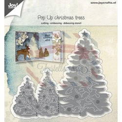 Fustella metallica Joy! Crafts Cutting & Embossing Pop-up Christmas trees
