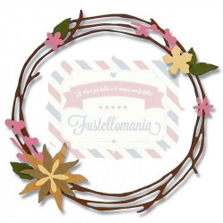 Fustella Sizzix Thinlits Pretty Wreath by Pete Hughes