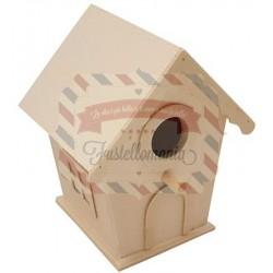 Casetta uccellini in legno