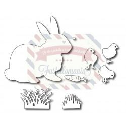Fustella metallica Coniglio e pulcini