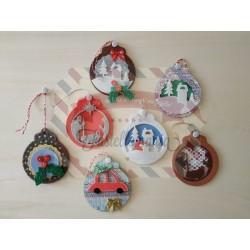 Fustella XL Palla di Natale con decorazioni