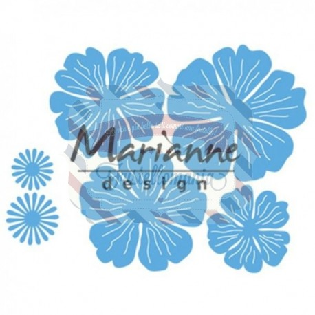 Fustella metallica Marianne Design Creatables Anja's beautiful flower set