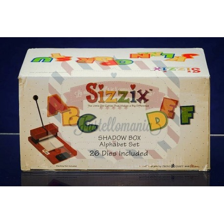 Fustella Sizzix Shadow Box Set Alfabeto